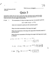 Initial Concentrations Quiz