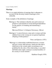 Lecture 18 Marriage