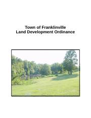 Franklinville LDO (Chapters 1 - 5).doc