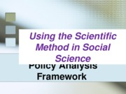 090512 - Policy Framework and Methods Examples - PAM 2300