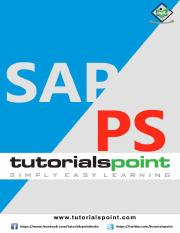 sap_ps_tutorial pdf - SAP PS About the Tutorial Project