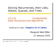 04 Recurrences and Lists
