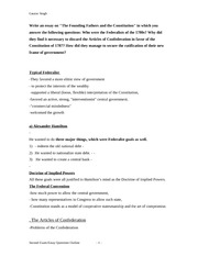 Second exam- Essay Questions-outline