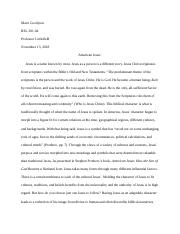 Thesis Statement In Essay  Pages American Jesus Essaydocx Essays For High School Students also Essay On Healthcare Rel   American Jesus Essaydocx  Goodyear  Marri Goodyear Rel  How To Write A Proposal Essay Outline