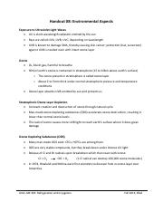 Handout 08 - Environmental Aspects