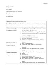 Literary Movments cornell notes