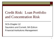 CHP12-Credit Risk-Loan Portfolio and Concentration Risk