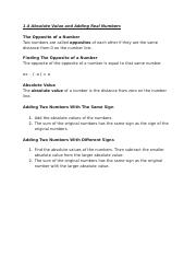 Chapter One Outline - Statistics 1.4.docx
