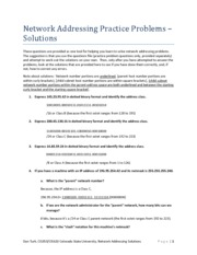 06j-Network Addressing Practice Problems - b - Solutions