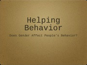 Behavior Presentation