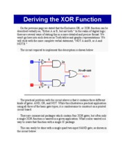 Deriving the XOR Function
