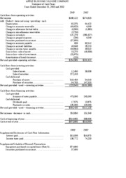 12O IM 2003 Stmt Cash Flows - Prn