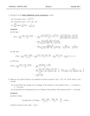 Exam 1 Solution Spring 2011 on Calculus 1 for Engineers
