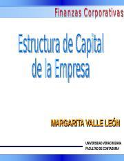 Estructura De Capital Optima Ppt Margarita Margarita Valle