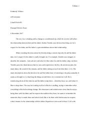Passage Devices Essay (Joe&father camping; tradition).docx