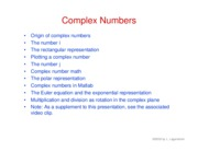 10. Complex numbers