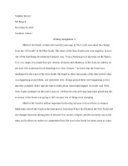 Stephen Brown - Writing Assignment 3