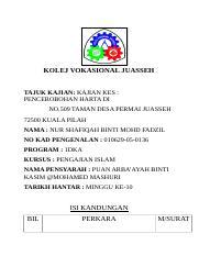 Islam Dan Hak Milik 2 Docx Kolej Vokasional Melaka Tengah Kajian Kes Pengajian Islam Mpu 2312 Nama Abdul Danish Darwisy Bin Rasli Krusus 1 Dete No Ic Course Hero