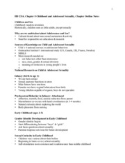 HD2314, Nguyen, Spring 2015, Exam 3 Study Guide- Ch8- Childhood and adult sexuality, ch9- Adult sexu