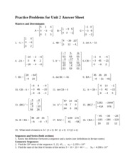Answer Sheet Unit 2 Section 2