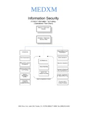 IT - HIPPA - information security organization Network diagram