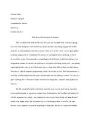 Foundations Mid-Term Essay
