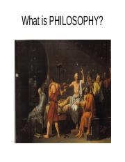 A  What is PHILOSOPHY (4)
