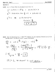 Math 191 Test 3 Solutions