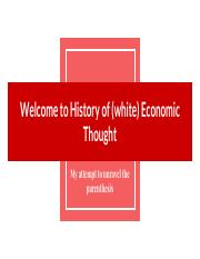 1. Early economic thought