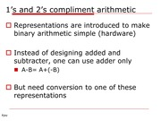 CPE 100 Lecture notes #2 ones and twos compliment