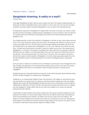 Bangladesh drowning - A reality or a myth