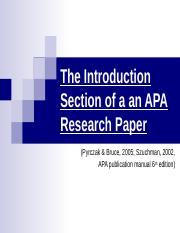 Week 3 Introduction Section of the Research Paper.ppt