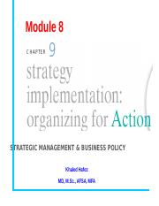 ESLSCA-STRATEGIC  MANAGEMENT-8-IMPLEMENTATION.ppt