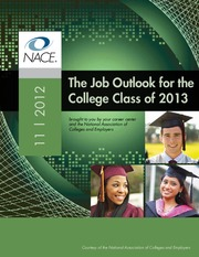 The Job Outlook for the College Class of 2013