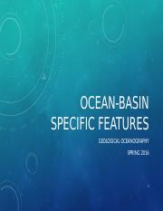 9 - Ocean-basin specific features