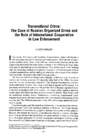 Transnational Crime_Russian OC and Intl Cooperation
