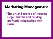 Marketing Management (Presentation)
