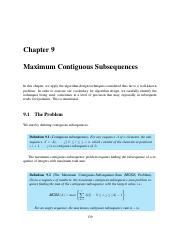 9 Maximum Contiguous Subsequences