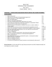 BUSI 1301 - Chapter 1 - Study Guide - Test 1 - FA 17 (1).docx