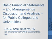 Ch 13-GASB 35  PPT Colleges and Universities