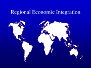 Chapter 8 - economic integration