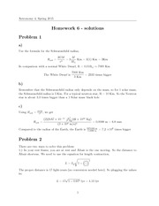 HW#6, Solutions