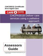CHCPA301B Deliver care services using a palliative approach AG V3.0