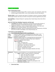 Chapter 2 - Data Modeling Outline Notes