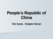 18- Chapter 7, People's Republic of China