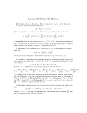 Midterm 1 Answers Econ326 Winter 2015