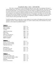 Exam Review Sheet Unit 1 COM205 FALL 2014-1