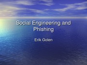 Social Engineering and Phishing