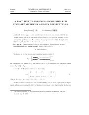 A FAST SINE TRANSFORM ALGORITHM FOR TOEPLITZ MATRICES AND ITS APPLICATIONS.pdf