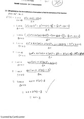 The Limit Definition to Find Derivatives
